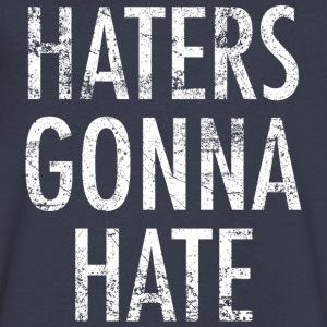 Haters gonna hate vintage white - Men's V-Neck T-Shirt by Canvas