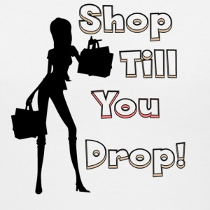 Shop Till You Drop Women's T-Shirts - Women's V-Neck T-Shirt
