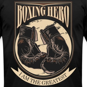 Boxing Hero - i am the greatest T-Shirts - Men's T-Shirt by American Apparel