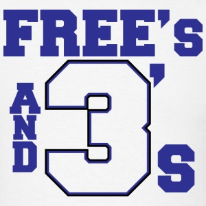 Free's And 3's - Men's T-Shirt
