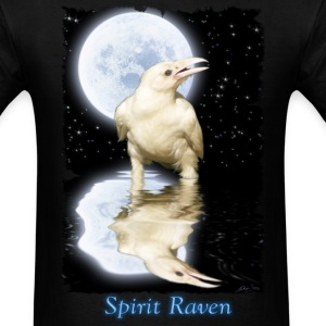 Spirit Raven & Moon Fantasy Art - Men's T-Shirt
