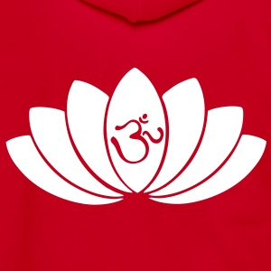 Lotus OM - Unisex Fleece Zip Hoodie by American Apparel