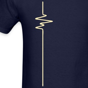 FREQUENCE (vertical) - FREQUENCY - BEAT - BASS - Men's T-Shirt