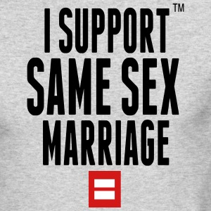 I SUPPORT SAME SEX MARRIAGE Long Sleeve Shirts - Men's Long Sleeve T-Shirt by Next Level