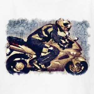 Motor Bike & Rider - Kids' T-Shirt