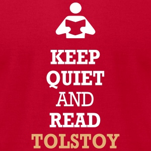 Keep Quiet and Read Tolstoy T-Shirts - Men's T-Shirt by American Apparel