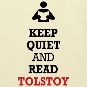 Keep Quiet and Read Tolstoy Bags  - Eco-Friendly Cotton Tote