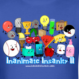 Design ~ Inanimate Insanity II (Season 2) Full Cast Shirt *NEW*