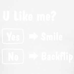 Smile or Backflip T-shirt - Men's Ringer T-Shirt