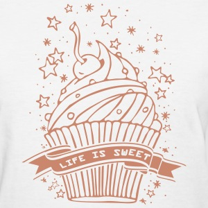 Cupcake Life is Sweet   Women's T-Shirts - Women's T-Shirt