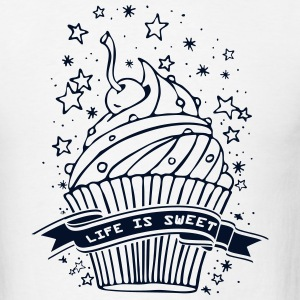 Cupcake Life is Sweet   T-Shirts - Men's T-Shirt