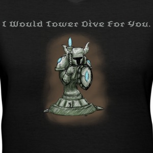 Tower Dive - Women's V-Neck T-Shirt