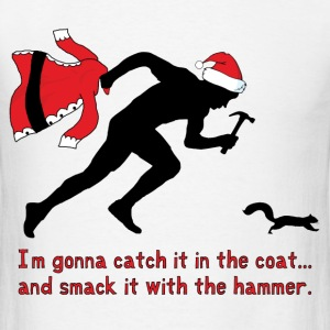 Christmas Hammer Squirrel - Men's T-Shirt