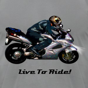 Live To Ride Motorbiker - Men's T-Shirt by American Apparel
