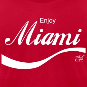 Men: Enjoy Miami - Men's T-Shirt by American Apparel