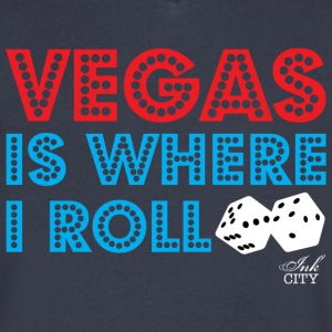 Men: Vegas is where I roll V-neck - Men's V-Neck T-Shirt by Canvas