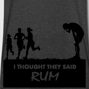 I Thought They Said RUM - Men's V-Neck T-Shirt by Canvas