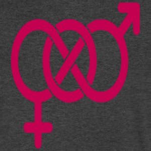 BISEXUAL LOGO T-Shirts - Men's V-Neck T-Shirt by Canvas