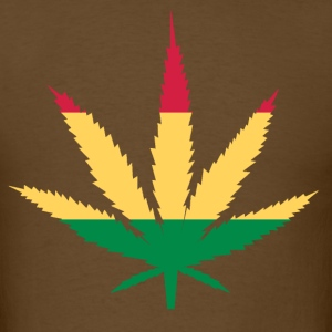 Rasta Marijuana Leaf T-Shirt - Men's T-Shirt