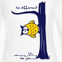 Owl on tree - be different, be you Long Sleeve Shirts