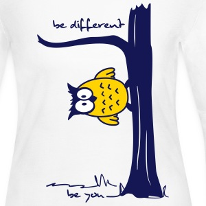 Owl on tree - be different, be you Long Sleeve Shirts - Women's Long Sleeve Jersey T-Shirt