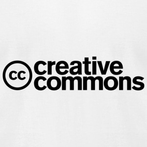 Creative Commons T-shirt - Men - White - Men's T-Shirt by American Apparel
