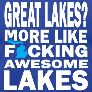 Great Lakes? Down with Detroit T-Shirts - Men's T-Shirt by American Apparel