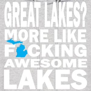Great Lakes? Down with Detroit Hoodies - Men's Hoodie