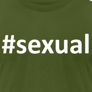 Hashtag Sexual T-Shirts - Men's T-Shirt by American Apparel