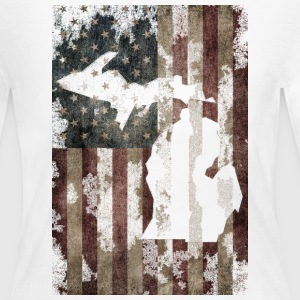 USA Flag Distressed Michigan Down with Detroit Lon - Women's Long Sleeve Jersey T-Shirt