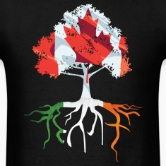 Canada Irish Roots Irish Celtic Apparel T-Shirts