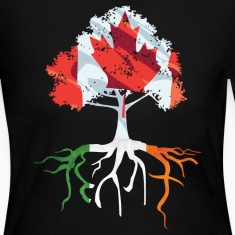 Canada Irish Roots Irish Celtic Apparel Long Sleeve Shirts