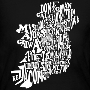 County Word Map Irish Celtic Apparel Long Sleeve Shirts - Women's Long Sleeve Jersey T-Shirt