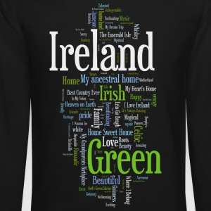 Ireland Words Irish Celtic Apparel Long Sleeve Shirts - Crewneck Sweatshirt