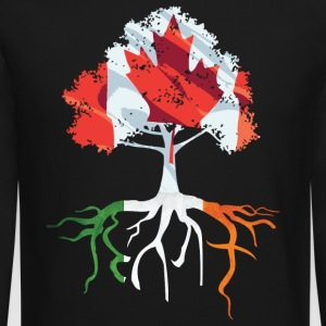 Canada Irish Roots Irish Celtic Apparel Long Sleeve Shirts - Crewneck Sweatshirt