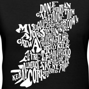 County Word Map Irish Celtic Apparel Women's T-Shirts - Women's V-Neck T-Shirt