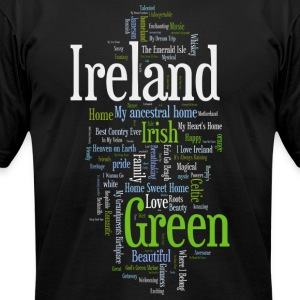 Ireland Words Irish Celtic Apparel T-Shirts - Men's T-Shirt by American Apparel