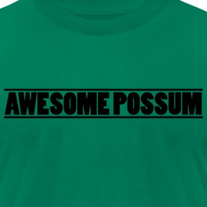 Awesome Possum - Men's T-Shirt by American Apparel
