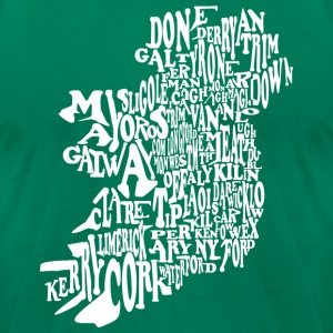 County Word Map Irish Celtic Apparel T-Shirts - Men's T-Shirt by American Apparel