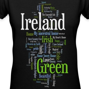 Ireland Words Irish Celtic Apparel Women's T-Shirts - Women's V-Neck T-Shirt