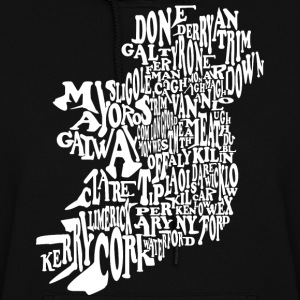 County Word Map Irish Celtic Apparel Hoodies - Women's Hoodie