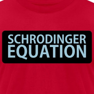 Schrodinger Equation  - Men's T-Shirt by American Apparel