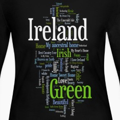 Ireland Words Irish Celtic Apparel Long Sleeve Shirts