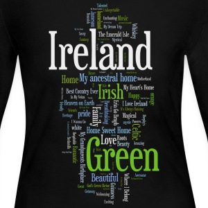 Ireland Words Irish Celtic Apparel Long Sleeve Shirts - Women's Long Sleeve Jersey T-Shirt