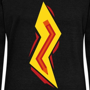 Pencil Lightning Bolt Long Sleeve Shirts - Women's Wideneck Sweatshirt