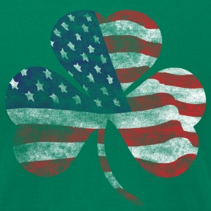USA Shamrock Irish Celtic Apparel  T-Shirts - Men's T-Shirt by American Apparel