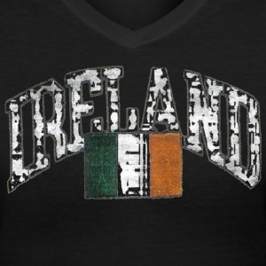 Old Ireland Irish Celtic Apparel  Women's T-Shirts - Women's V-Neck T-Shirt