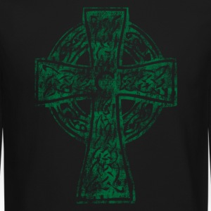 Celtic Cross Irish Celtic Apparel Long Sleeve Shirts - Crewneck Sweatshirt