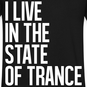 I Live In The State Of Trance (classic) T-Shirts - Men's V-Neck T-Shirt by Canvas