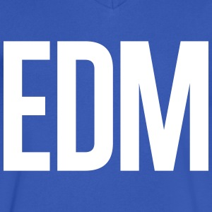 EDM (classic)  T-Shirts - Men's V-Neck T-Shirt by Canvas